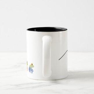 Springen der Frosch-Kaffee-Tasse Zweifarbige Tasse