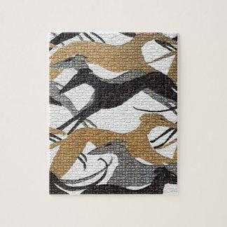 Springen der Jagdhunde Puzzle
