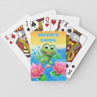 Springen der Spielkarten des