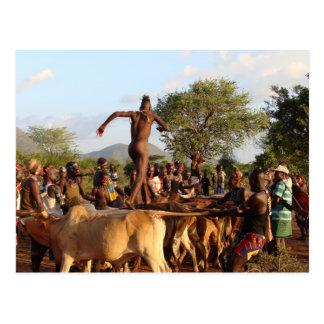 Springen der Stier-Zeremonie Postkarte