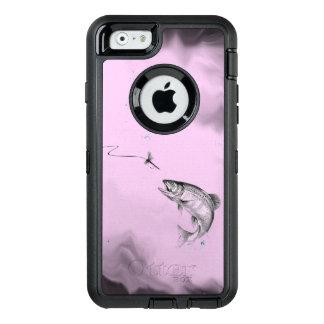Springen des Forelle-Fliegen-Fischens auf weichem OtterBox iPhone 6/6s Hülle