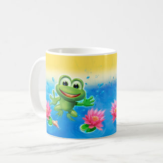 Springen des Frosch-Party-Keramik-Tassengeschenks Kaffeetasse