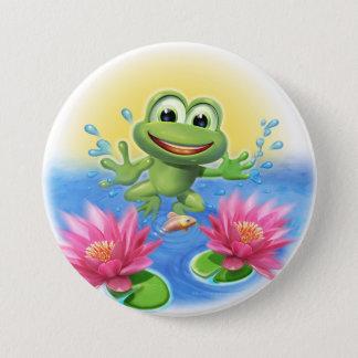 Springen des Froschgeburtstags-Party-Abzeichens Runder Button 7,6 Cm