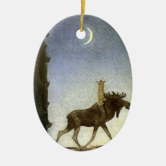 Springen Sie die Elche und die Prinzessin Tuvstarr Keramik Ornament
