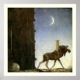 Springen Sie die Elche und die Prinzessin Tuvstarr Poster