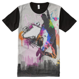 Springen Sie die Stadt (über gekommen) T-Shirt Mit Bedruckbarer Vorderseite
