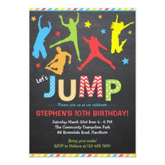Springen Sie Einladung/Trampoline-Einladung 12,7 X 17,8 Cm Einladungskarte