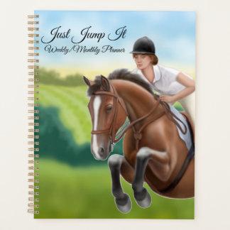 Springen Sie es Reiterpferdewöchentlicher Planer