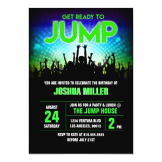 Springen Sie Geburtstags-Einladung 12,7 X 17,8 Cm Einladungskarte