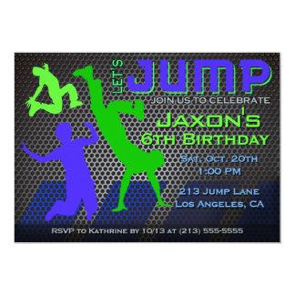 Springen Sie Geburtstags Einladung   Karte