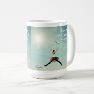 """Springen Sie"" inspirational Kaffee-Tasse Kaffeetasse"
