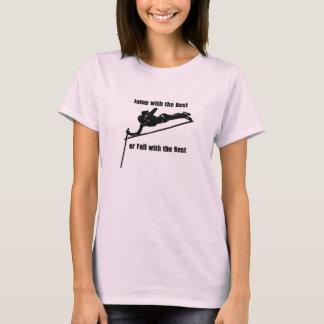 Springen Sie mit dem Besten! (Dunkles Bild für auf T-Shirt