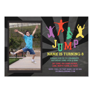 Springen Sie Trampoline-Geburtstags-Party, das 12,7 X 17,8 Cm Einladungskarte