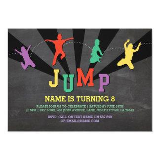 Springen Sie Trampoline-Geburtstags-Party, das Karte