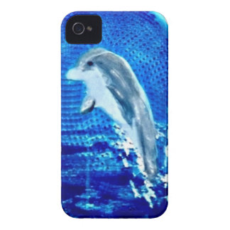 Springen von Delphin-Kunst iPhone 4 Cover