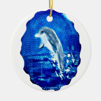 Springen von Delphin-Kunst Keramik Ornament