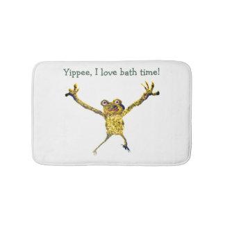 Springen von Frosch-Kunst, i-Liebe-Bad-Zeit Badematte