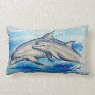 Springende Delfine Zierkissen