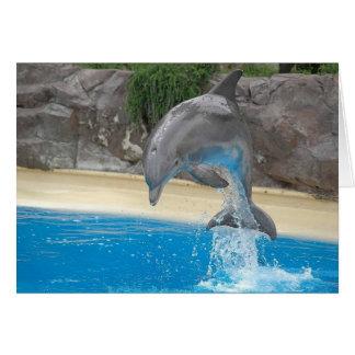 Springende Delphin-Gruß-Karte Karte
