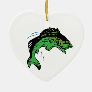 Springende Fische Keramik Herz-Ornament