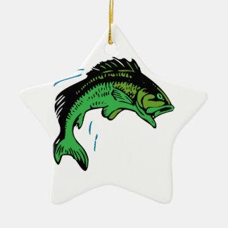 Springende Fische Keramik Stern-Ornament