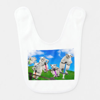 Springende Schafe Lätzchen