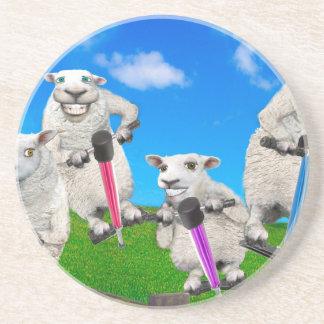 Springende Schafe Sandstein Untersetzer