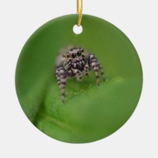 Springende Spinnen-Weihnachtsverzierung Keramik Ornament