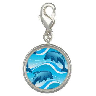 Springende Wellen des Delphins Foto Charm