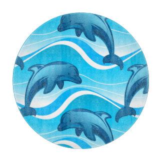 Springende Wellen des Delphins Schneidebrett
