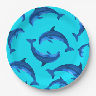 Springender Delphin-tropischer Sommer-Party-Teller Pappteller