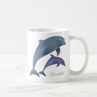 Springender Delphinillustrationsname Kaffeetasse
