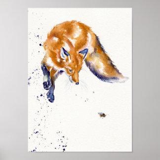 """Springender Fox: """"Bienen-Springen """" Poster"""