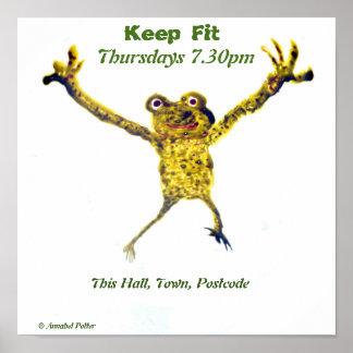 Springender Frosch, tanzende Kunst Poster