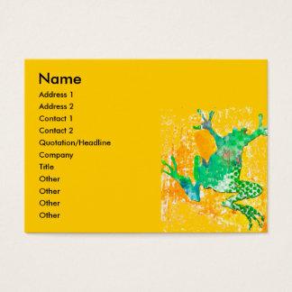 Springender Frosch Visitenkarte