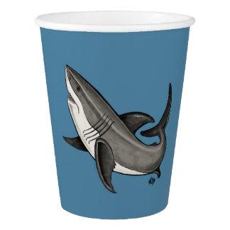 springender Haifisch Pappbecher