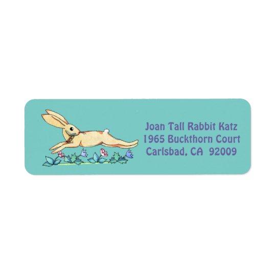 Springender Kaninchenaufkleber für Joan Rücksendeetiketten