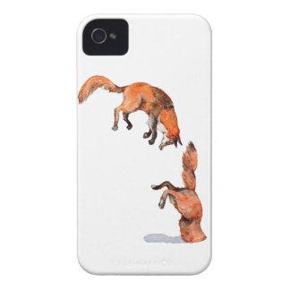 Springender roter Fox iPhone 4 Hüllen