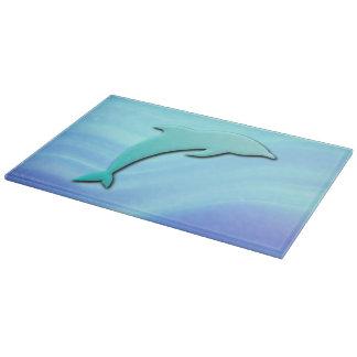 Springendes Effekt des Delphins 3D cooles Blau Schneidebrett