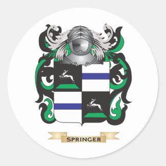 Springer-Wappen (Familienwappen) Runder Aufkleber
