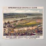 Springfield-Fahrrad-Verein-Vintage Plakat-Kunst