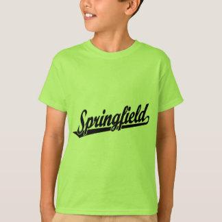 Springfield-Skriptlogo im Schwarzen T-Shirt