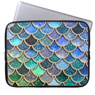 Springlike MehrfarbenGlitzer-Meerjungfrau-Skalen Laptopschutzhülle