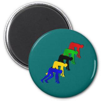 Sprinters auf Ihren Kennzeichen erhalten Set gehen Runder Magnet 5,7 Cm