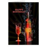 Spritzen der 104. Geburtstagskarte des Weins