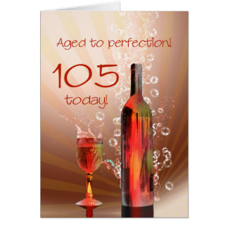 Spritzen der 105. Geburtstagskarte des Weins Karte