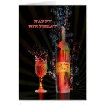 Spritzen der 35. Geburtstagskarte des Weins