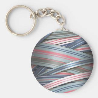 Spritzen der rosa flüssigen Bänder Standard Runder Schlüsselanhänger