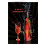 Spritzen der Weingeburtstagskarte Grußkarten