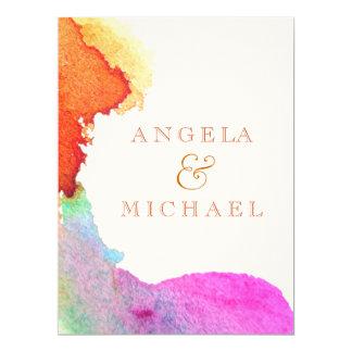 Spritzen des Aquarells Personalisierte Ankündigungskarte